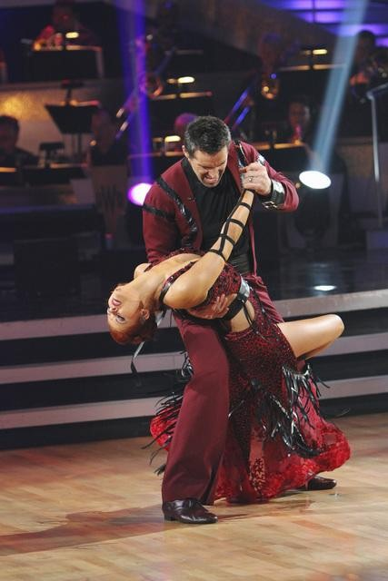 Kurt Warner and Anna Trebunskaya perform on 'Dancing With the Stars,' Monday, Oct. 25, 2010. The judges gave the couple 18 out of 30 for individual and 4 points for the dance marathon for a total of 22.