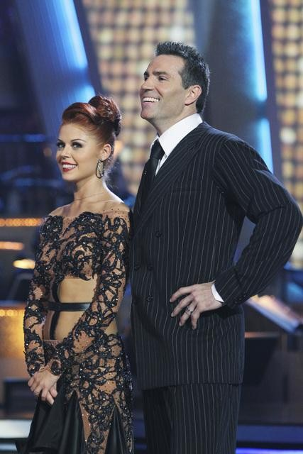 Kurt Warner and Anna Trebunskaya perform on &#39;Dancing With the Stars,&#39; Monday, Nov. 1, 2010. The judges gave the couple 34 out of 40 for individual and 27 points for winning dance marathon for a total 61 out of 70. <span class=meta>(KABC Photo)</span>