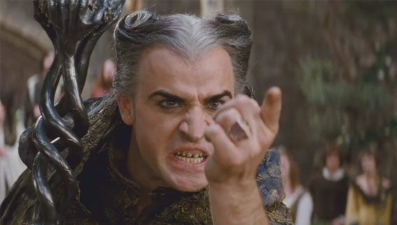 Justin Theroux as the evil wizard Leezar in the 2011 fantasy comedy movie, 'Your Highness.'