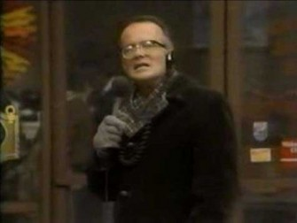 &#39;WKRP in Cincinnati&#39; - &#39;Turkey&#39;s Away&#39;:  Mr. Carlson, the station manager, decides to run a promotion for the station by dropping 20 live turkeys from a helicopter.  Carlson thinks the turkeys would gently float to the ground to give the city of Cincinatti a Thanksgiving surprise.  Instead, the turkeys plunge to their deaths as Les Nessman describes the scene. <span class=meta>(Photo courtesy of Company Four)</span>