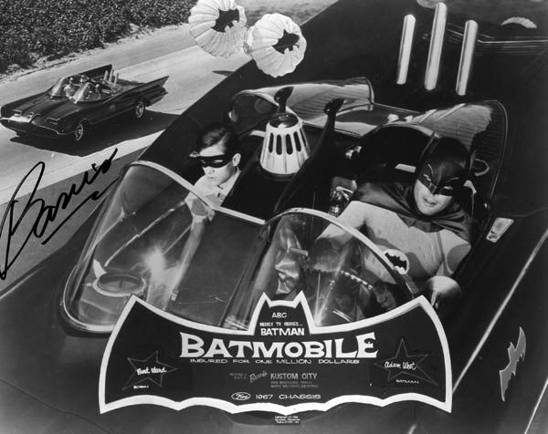 A photo of the original Batmobile.