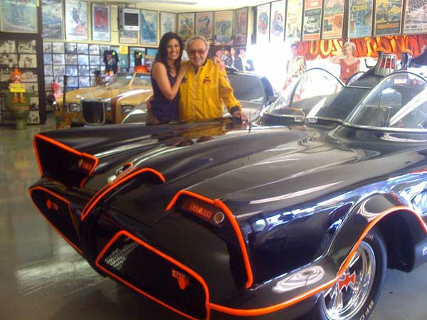 "<div class=""meta image-caption""><div class=""origin-logo origin-image ""><span></span></div><span class=""caption-text"">Eye on L.A.'s Tina Malave hung out with the King of 'Kustom' cars, George Barris, and got to check out his world famous creations, including the original Batmobile! (Photo/Courtesy George Barris)</span></div>"
