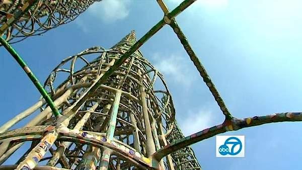 Italian immigrant Simon Rodia singlehandedly built the famous Watts Towers over 33 years, from 1921 to 1954.