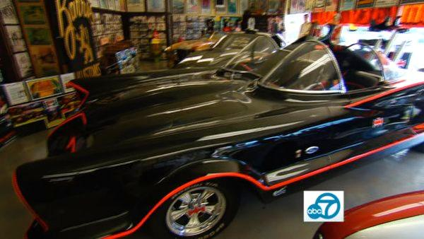 Eye on L.A.'s Tina Malave hung out with the King of 'Kustom' cars, George Barris, and got to check out his world famous creations, including the Munsters TV car, KITT from Knight Ryder and the holy grail of cars... the original Batmobile!