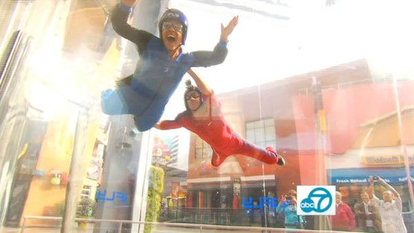 Indoor skydiving at iFly at Universal City Walk is an L.A. must-do! Air lifts you at 120 mph to replicate the sensation of real skydiving.