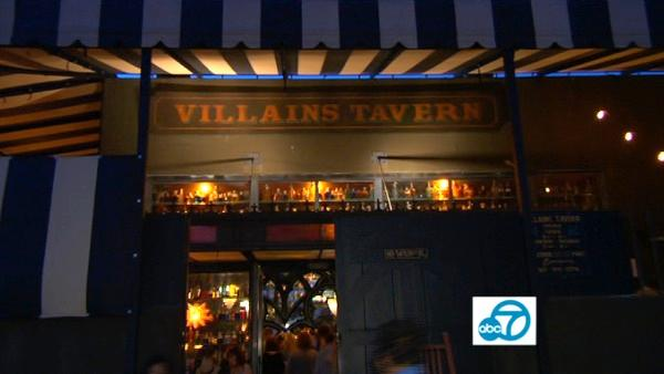 Villains Tavern may not look like much from the outside, but step under the striped big top and the vibe is old school circus.