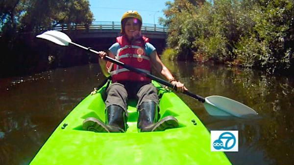 The Los Angeles Conservation Corps' Paddle the L.A. River program can take you on a kayak trip down a 1.5-mile stretch of the Los Angeles River in the San Fernando Valley within the Sepulveda Basin.