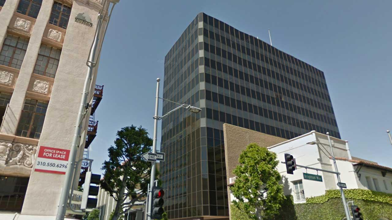 A naked woman jumped to her death from this 15-story Beverly Hills building on Jan. 22, 2014.