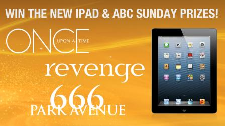 Enter to win a Sunday Night Gift Box including the new iPad and the first season of ABCs Once Upon a Time and Revenge.
