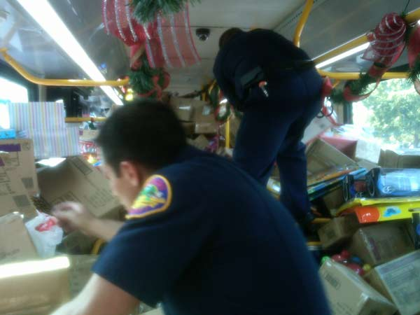 "<div class=""meta ""><span class=""caption-text "">One of the buses filled with toys at the Stuff-A-Bus event at Ontario Mall on Friday, Dec. 3, 2010. (KABC)</span></div>"