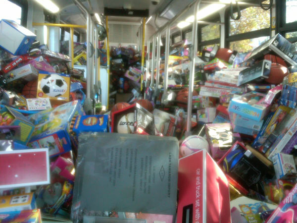 "<div class=""meta ""><span class=""caption-text "">The first filled up very quickly at the Stuff-A-Bus event at Gateway Plaza Center in Woodland Hills. (KABC)</span></div>"