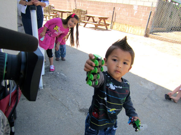 The Kingdom Center: Alexander, a child who lives at the Kingdom Center, plays with his toys.  Read more about the Kingdom Center. <span class=meta>(KABC Photo)</span>