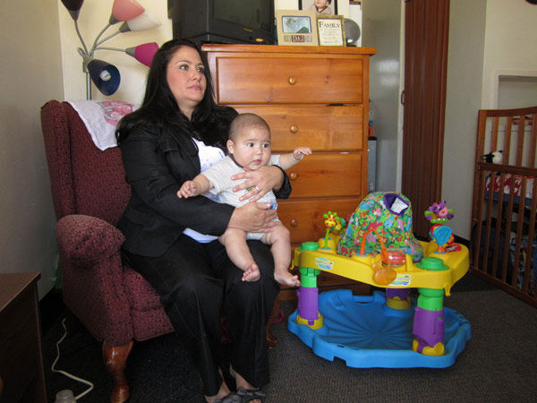 The Kingdom Center: Johanna Marizela Neff-Horton poses with her baby, Noble. She tell us thanks to the Kingdom Center, she now has home, is sober and set to regain custody of her 9-year-old son.  Read more about the Kingdom Center. <span class=meta>(KABC Photo)</span>