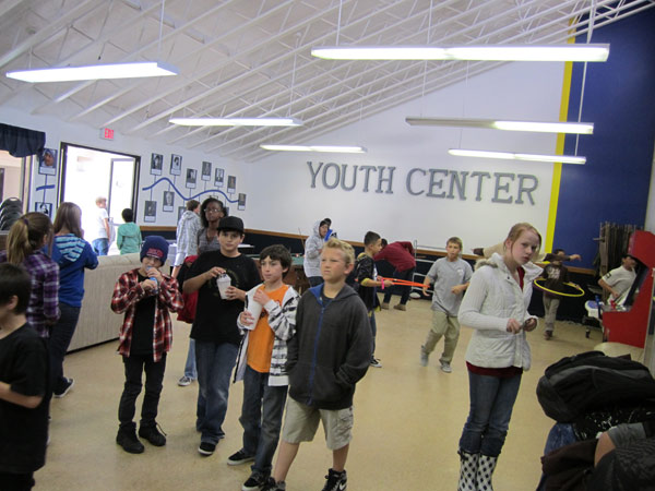 The Los Alamitos Youth Center: The Youth Center kids are drawn to the camera.