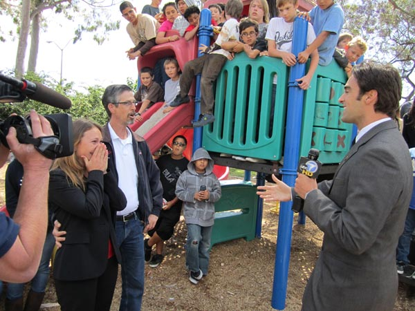 The Los Alamitos Youth Center: As she is surprised to find out the Youth Center is receiving &#36;7,000, executive director Lina Lumme is in tears. Read more about the Los Alamitos Youth Center. <span class=meta>(KABC)</span>