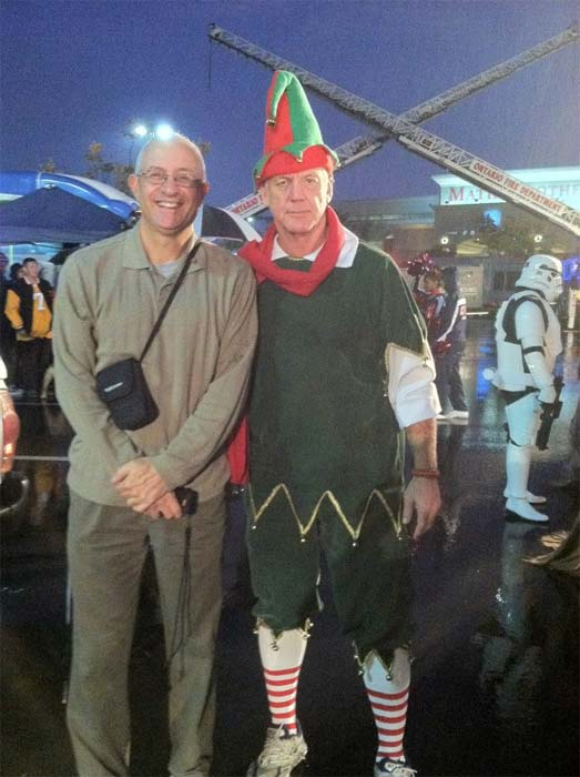 Garth the Elf poses for a photo at Spark of Love...