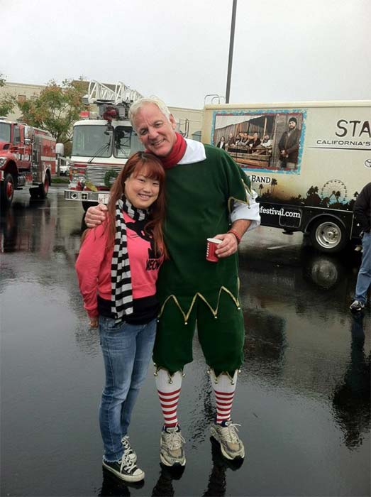 Garth the Elf at Spark of Love Toy Drive in Ontario on Friday, Nov. 30, 2012.
