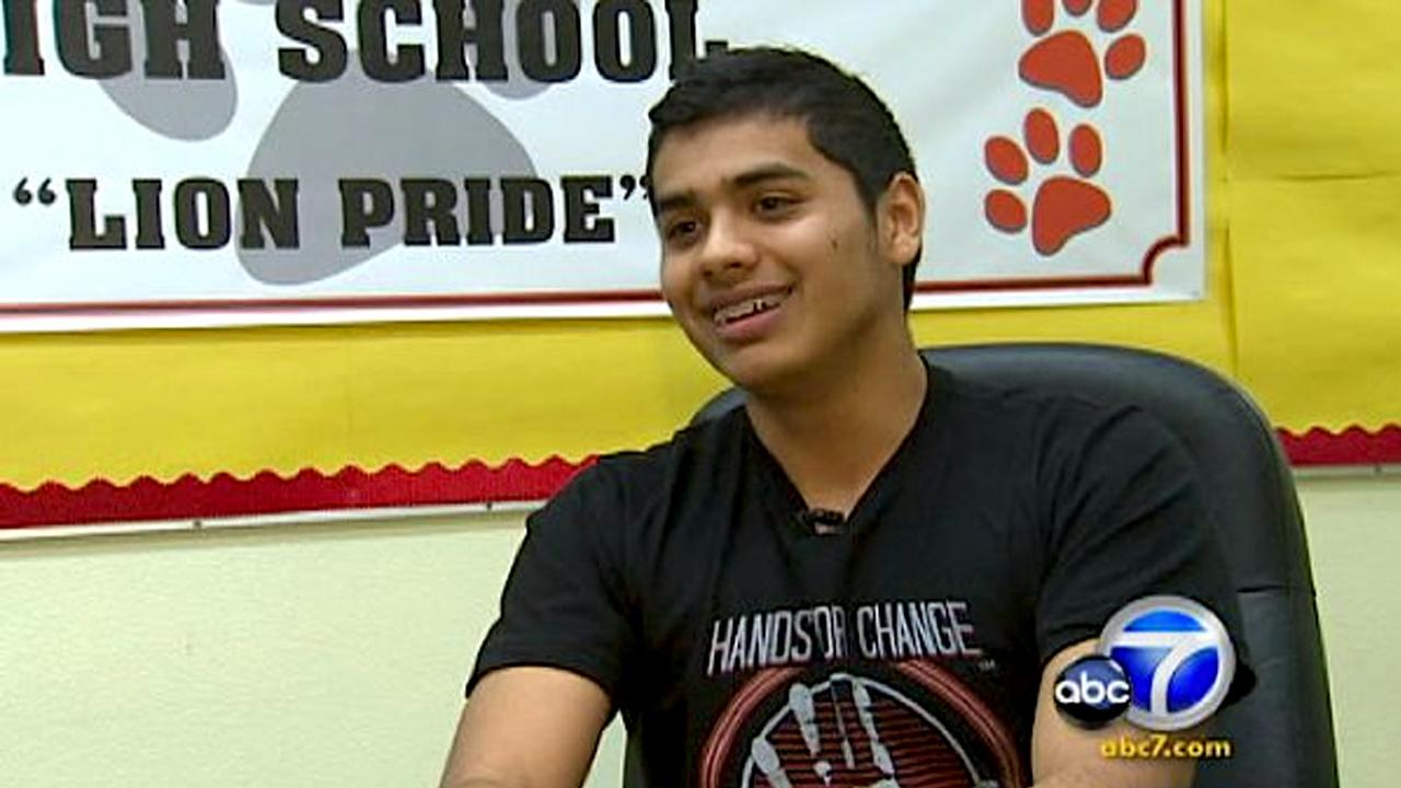 Cool Kid Kevin Sanchez founded Hands for Change, a high school club that aids the community in many ways.
