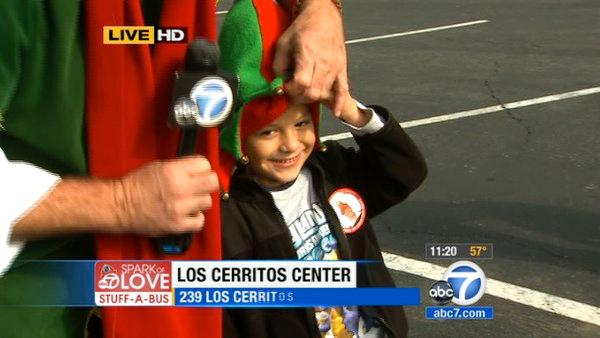 Lakewood boy helps Stuff-A-Bus in Cerritos