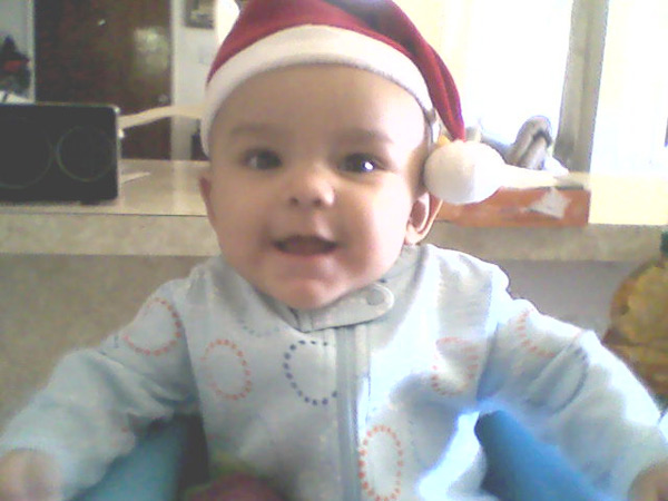 My first Christmas! Happy holidays to all.   <span class=meta>(ABC7 Photo)</span>