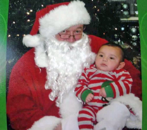 Baby Johnny with Santa.  Happy holidays.   <span class=meta>(ABC7 Photo)</span>