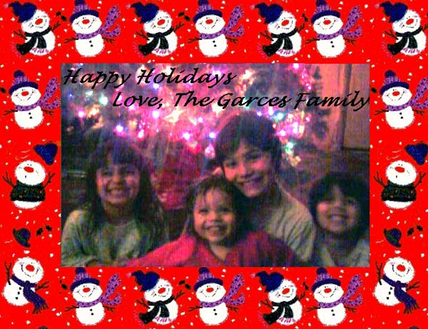 Happy holidays to all our troops near and far with lots of love and warm wishes! May God watch over you and keep you safe. Love, the Garces family from Burbank.  <span class=meta>(ABC7 Photo&#47; The Garces Family)</span>