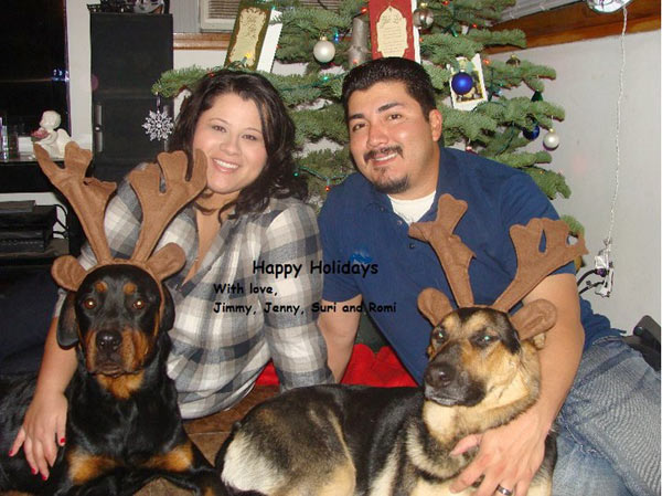 Merry Christmas and Happy New Year from the Heredia family -- Jenny, Jimmy, Romi and Suri.    <span class=meta>(ABC7 Photo&#47; Jenny Heredia)</span>