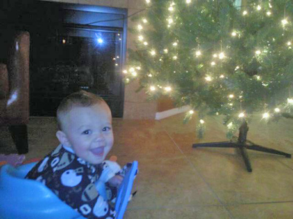 Nine-month-old Presley&#39;s first Christmas tree lighting! <span class=meta>(ABC7 Photo)</span>