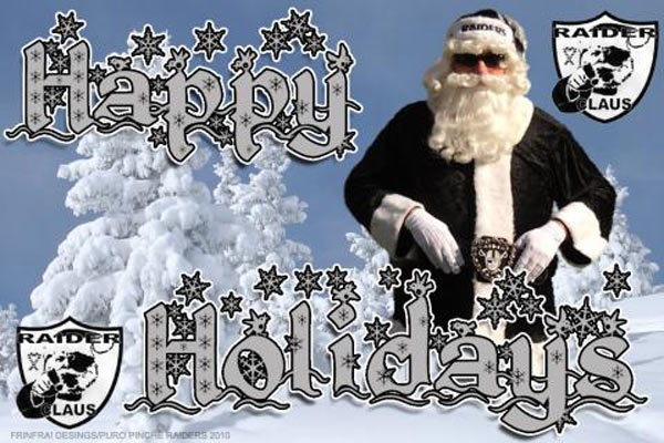 Happy Holidays to you and yours. Go Raiders! <span class=meta>(ABC7 Photo&#47;SoCal Raider Claus)</span>