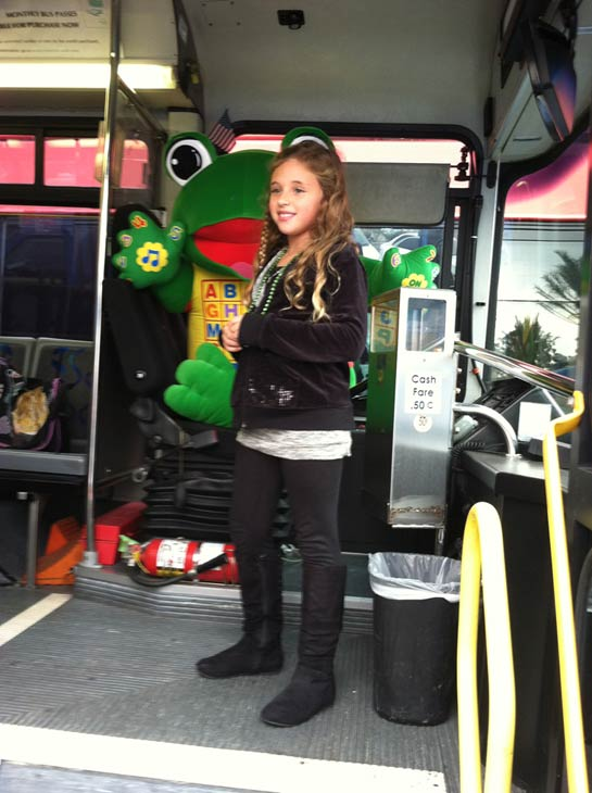 A young girl helps out at the &#39;Spark of Love Toy Drive&#39; at Los Cerritos Center on Friday, Nov. 18, 2011. <span class=meta>(KABC Photo)</span>