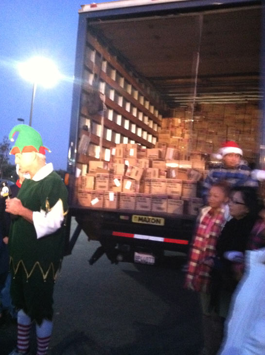 Mathis Brothers&#39; donations are seen at the &#39;Spark of Love Toy Drive&#39; at Mathis Brothers in Ontario on Friday, Dec. 2, 2011. <span class=meta>(KABC Photo)</span>