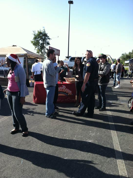 "<div class=""meta ""><span class=""caption-text "">Several people stoppped by to help the 'Spark of Love Toy Drive' at Mathis Brothers in Ontario on Friday, Dec. 2, 2011. (KABC Photo)</span></div>"