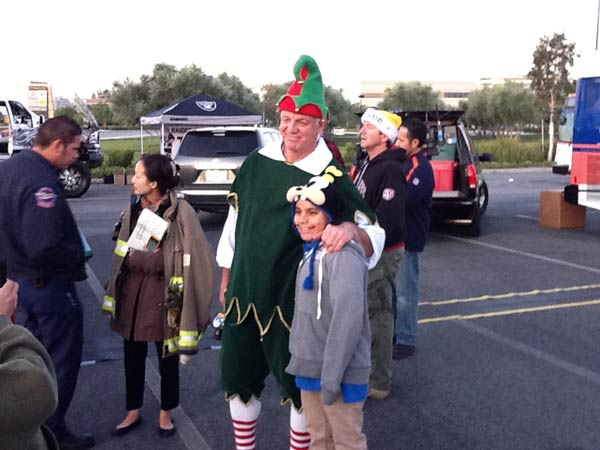 "<div class=""meta ""><span class=""caption-text "">ABC7 viewer Emory James sent this photo of Garth the Elf at the 'Spark of Love Toy Drive' at Mathis Brothers in Ontario on Friday, Dec. 2, 2011.  If you stop by a Stuff-A-Bus even, send your photos to video@myabc7.com, or send them to @abc7 on Twitter (KABC Photo)</span></div>"