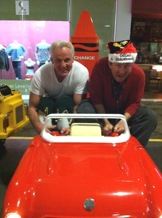 "<div class=""meta ""><span class=""caption-text "">Garth the Elf hangs out with an ABC7 cameraman at the 'Spark of Love Toy Drive' at Westfield Topanga Mall in Canoga Park on Friday, Dec. 9, 2011. (KABC Photo)</span></div>"