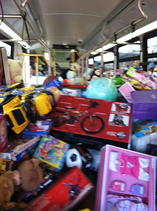 "<div class=""meta ""><span class=""caption-text "">Bus no. 1 full at the Stuff-A-Bus event at Westfield Topanga Mall in Canoga Park on Friday, Dec. 9, 2011. (KABC Photo)</span></div>"