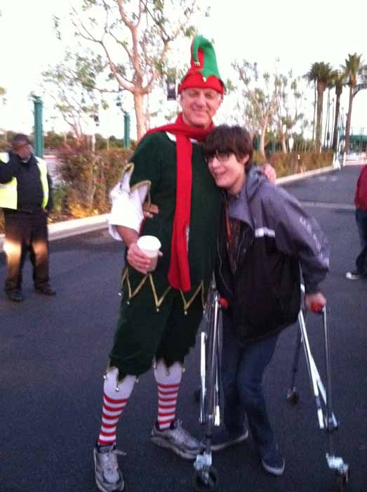 "<div class=""meta ""><span class=""caption-text "">Garth poses with a young toy donor at the Stuff-A-Bus event at the Honda Center in Anaheim on Friday, Dec. 16, 2011.  (KABC Photo)</span></div>"