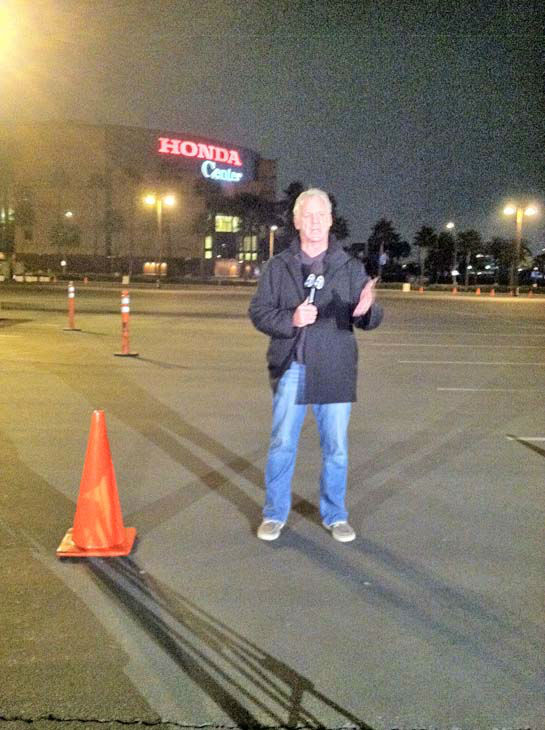 ABC7 Eyewitness News weathercaster Garth Kemp at our Sandy relief drive at the Honda Center in Anaheim on Thursday, Nov. 1, 2012. <span class=meta>(KABC Photo)</span>