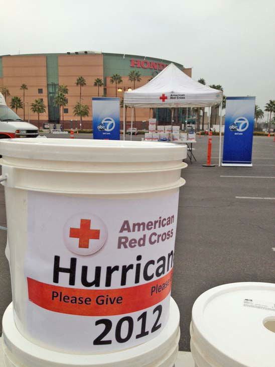 ABC7, with the American Red Cross, hosted a relief drive for the victims of Superstorm Sandy at the Honda Center in Anaheim on Thursday, Nov. 1.  <span class=meta>(KABC)</span>