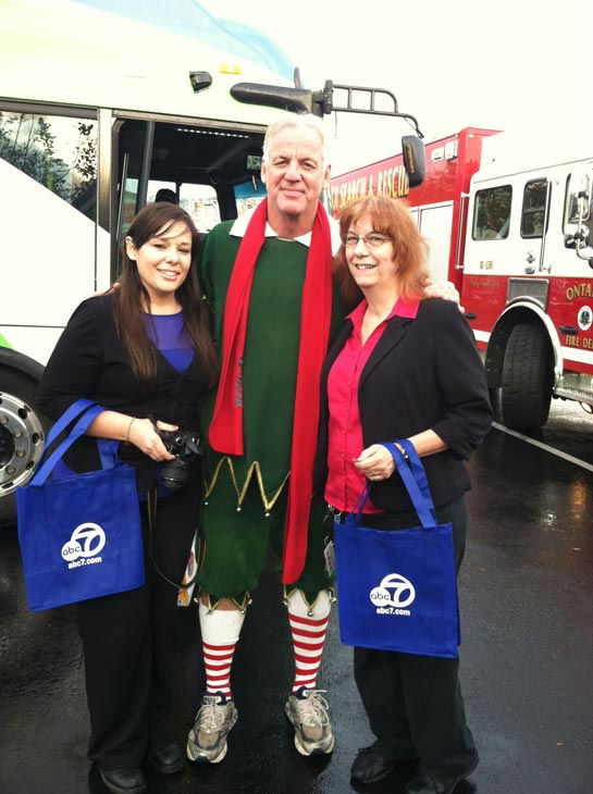 Garth the Elf poses with ABC7 viewers at the...