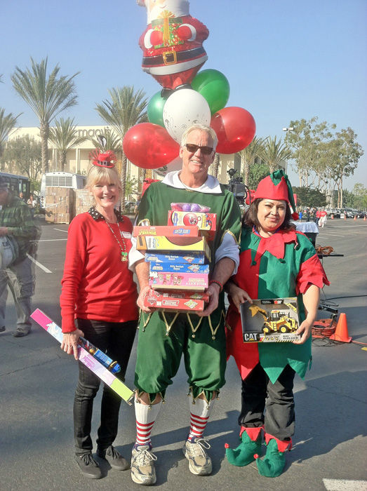 A jolly Christmas season for Garth the Elf and many generous ABC7 viewers who came out in their best holiday attire to support the Stuff-A-Bus toy drive at Los Cerritos Center in Cerritos on Friday, Dec. 7, 2012.