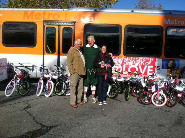 "<div class=""meta ""><span class=""caption-text "">Generous donors came out to support Garth the Elf at the Stuff-A-Bus toy drive at the Westfield Topanga mall at Canoga Park on Friday, Dec. 14, 2012. (KABC Photo)</span></div>"