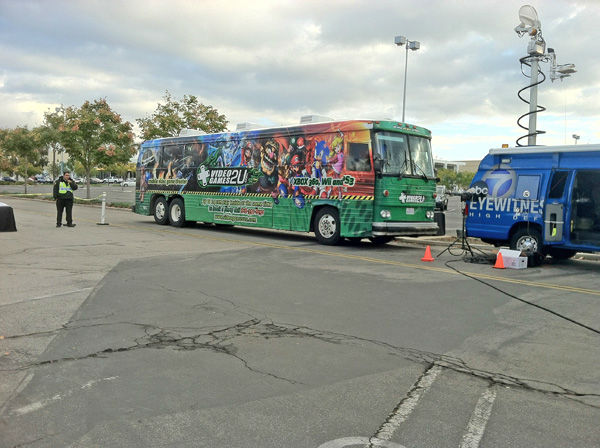 "<div class=""meta ""><span class=""caption-text "">Video2ugames.com parked their ultimate video game bus at the Stuff-A-Bus toy drive at the Westfield Topanga mall at Canoga Park on Friday, Dec. 14, 2012. (KABC Photo)</span></div>"