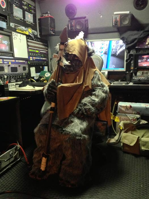 An Ewok is seen at the Stuff-A-Bus toy drive at the Honda Center in Anaheim on Friday, Dec. 21, 2012. <span class=meta>(KABC Photo)</span>