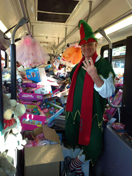 Bus #3 and #4 stuffed! The third and fourth bus were packed full of toys at the Stuff-A-Bus toy drive at the Honda Center in Anaheim on Friday, Dec. 21, 2012. <span class=meta>(KABC Photo)</span>