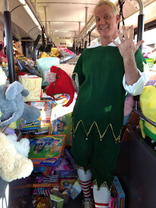 Bus #5 stuffed! The fifth bus was packed full of toys at the Stuff-A-Bus toy drive at the Honda Center in Anaheim on Friday, Dec. 21, 2012. <span class=meta>(KABC Photo)</span>