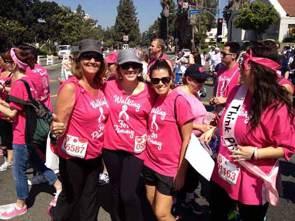 Participants pose for a photo at the Entertainment Industry Foundation Revlon Run&#47;Walk for Women in Exposition Park on Saturday, May 11, 2013. <span class=meta>(KABC Photo)</span>