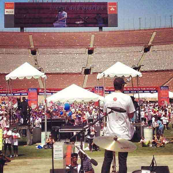 ABC7 reporter Elex Michaelson speaks during the closing ceremony at the Entertainment Industry Foundation Revlon Run&#47;Walk for Women in Exposition Park on Saturday, May 11, 2013. <span class=meta>(KABC Photo&#47; www.instagram.com&#47;elexmichaelson)</span>
