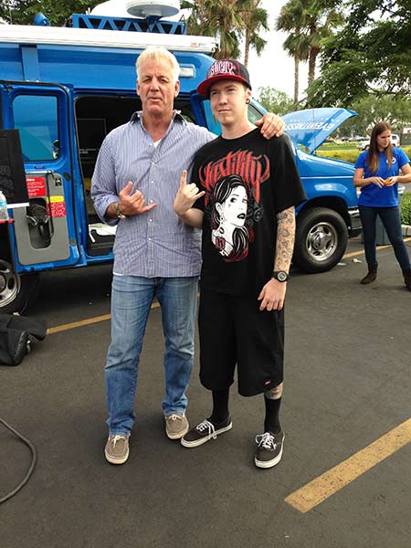 "<div class=""meta ""><span class=""caption-text "">ABC7 Weathercaster Garth Kemp poses for a photo with Daniel from Rancho Cucamonga at the Feed SoCal event in Ontario on Friday, July 26, 2013. (KABC Photo)</span></div>"