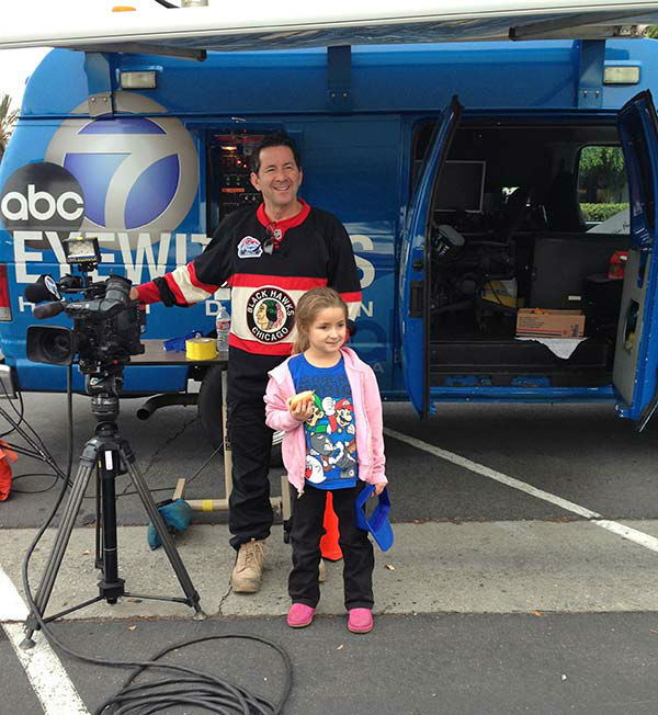 Seven-year-old Adamari from Norwalk at our first Stuff-A-Bus event of 2013 at Los Cerritos Center on Friday, Nov. 22, 2013. <span class=meta>(KABC TV)</span>