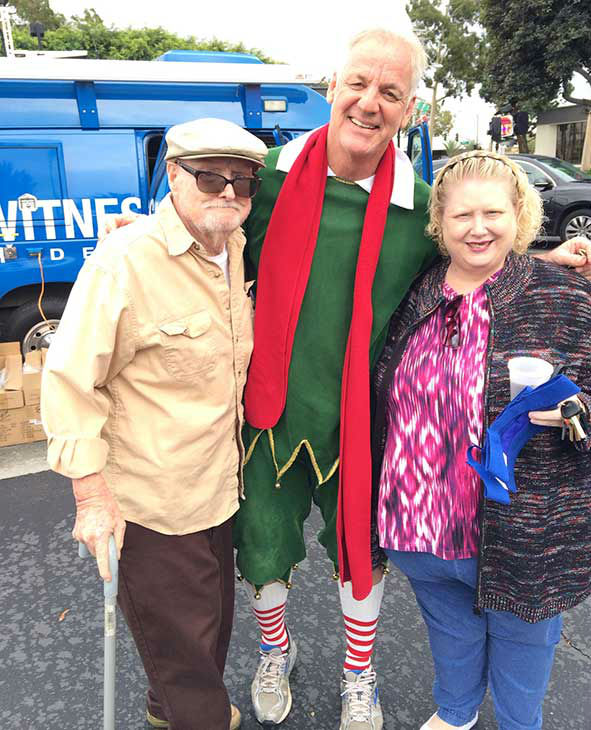 Bill and Cammy Champman visit Garth the Elf at our first Stuff-A-Bus event of 2013 at Los Cerritos Center on Friday, Nov. 22, 2013. <span class=meta>(KABC Photo)</span>